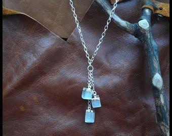 Selenite trio necklace