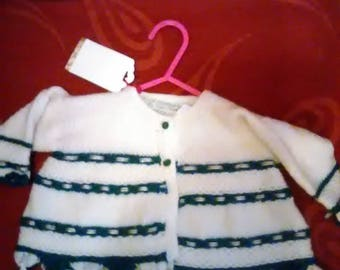 Hand knitted cardigan aged 0-6 months