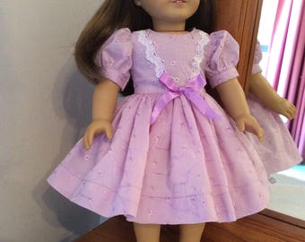American/Australian girl dolls dress for special occasions  ,in lilac.