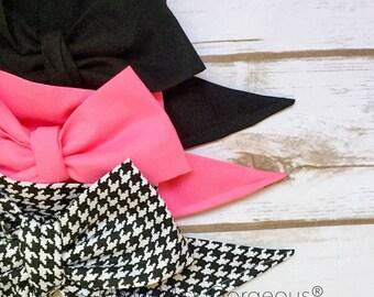 Gorgeous Wrap Trio (3 Gorgeous Wraps)- Noir, Bubblegum & Noir Houndstooth Gorgeous Wraps; headwraps; fabric head wraps; headbands