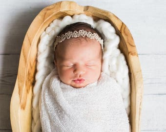 The OLIVIA- headband; boho headband; golden headband; gold crown; newborn headband; baby headband; toddler headband; golden headband