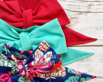 Gorgeous Wrap Trio (3 Gorgeous Wraps)-Brick, Turquoise & Southern Floral Gorgeous Wraps; headwraps; fabric head wraps