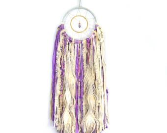 Purple Amethyst Dreamcatcher - SandSilkSky