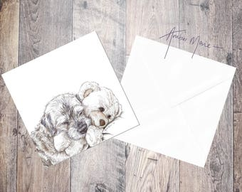 Border Terrier Greeting Card - Design 2