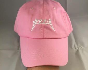 Sale!! Yeezus Hat Cap Yeezy Tour Kanye Embroidered Dad Hat Strapback Pink