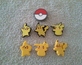 Lot 7 jibbitz Pikachu (badges for fangs)