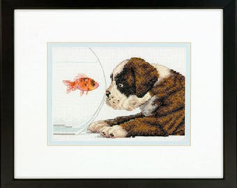 Dimensions Dog Bowl Counted Cross Stitch Kit
