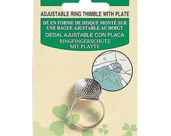 Clover Ring Thimble W/Plate  #611