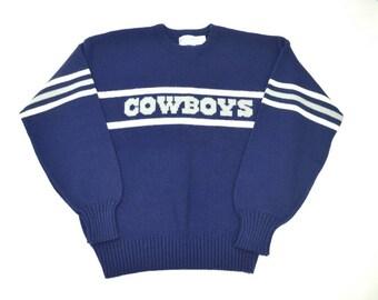1980s Cliff Engle Dallas Cowboys Knit Sweater
