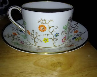 "Coalport ""Brookdale"" Tea Cup and Saucer"