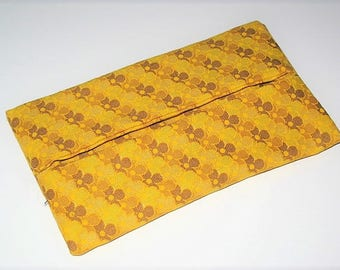 "Yellow ""Flowers"" tissue holder case"