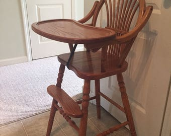 Vintage jenny lind high chair Etsy