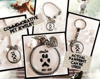 Commemorative Pet Necklace Bracelet or Keychain
