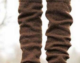 Knit long leg warmers  stockings long socks. knit socks alpaca Wool socks Norwegian socks Christmas socks gift to woman socks. Women socks