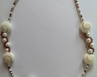 Necklace with eye of Saint Lucia