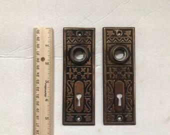 Door knob backplate Etsy