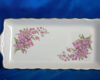 Vintage James Kent Old Foley Pottery 'Regal' Dish/Tray with Flowery Decoration