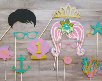 Beach Mermaid Theme Customized Photo Booth Props