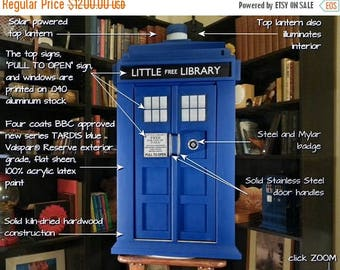 ON SALE NOW Tardis Inspired Little Free Book Exchange Library