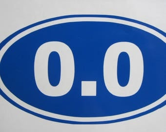 0.0 Vinyl Decal / Sticker *Available in 24 Colors* not running, not a runner, marathon