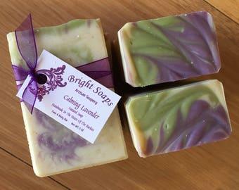 Soap- Handmade Lavender Soap Gift Set, 3 Lavender Soap Bars, Oatmeal Soap, Moisturizing Soap, Natural Soap,Handcrafted Soap, Organic Soap,