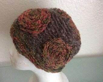 Womens Hat- Golden haze - crochet Handcraft