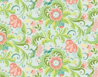 Bonjour Mon Ami by Blend Fabrics Fabric Coral, Melon, Green