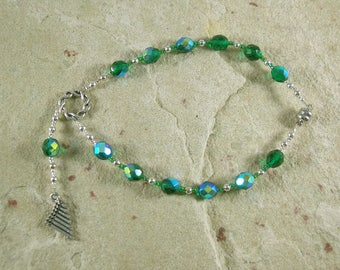 Pan Travel Prayer Beads: Greek God of the Forest, Mountains, Shepherds, Hunters, Country Life, Friend of the Nymphs