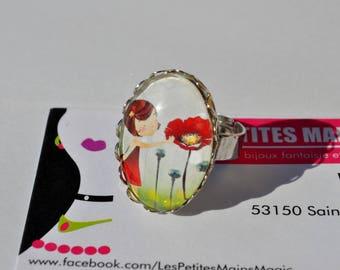 girl and poppy ring