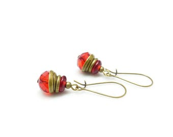 Bohemian earrings ~ * ~ pomegranate ~ * ~