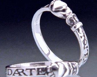 Spanish Heart Sterling Silver Poesy Ring - Ulster Museum in Belfast