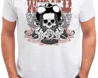 Western Mens Dead Cowboy Skull T Shirt   Horror Evil