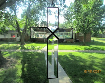 Beveled Glass Cross