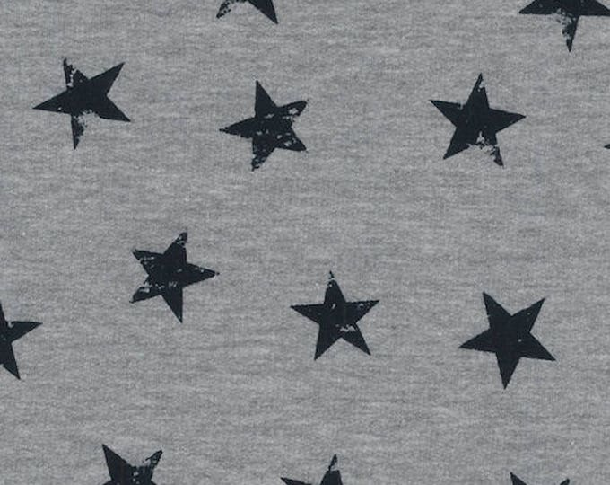 Avalana Knits by Stof Fabrics of Denmark - Stars Grey - Cotton Poly Sweatshirt Knit