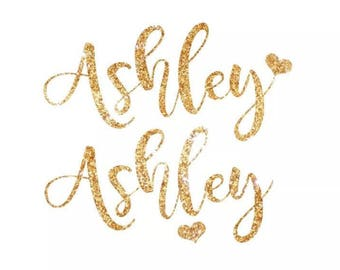 Custom name /wording glitter gorgeous hot fix  hen party iron on transfer DIY