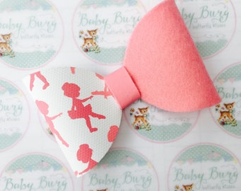 Pink Ballerina Bow  -Hairbows-Hairbands-Bows-Girls Hairbow