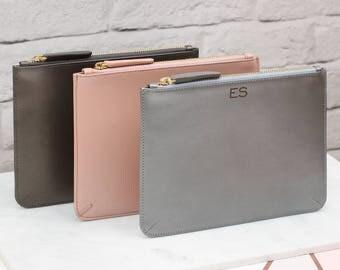 Personalised Luxury Metallic Leather Clutch Bag (HBL23)