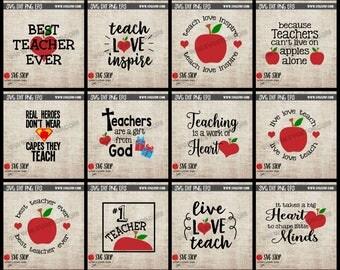 Teacher Appreciation  | Teacher Gifts Bundle | Svg Dxf Jpg Png Eps | Cricut | Silhouette | Vinyl | Sublimation Printing