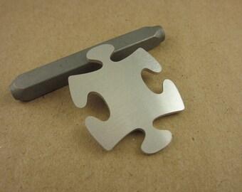 Large Traditional Puzzle Piece Aluminum Stamping Blanks, Interlocking, 14 Ga Thick, 1100 Aluminum, 10 Pieces