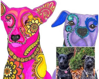Custom Pet Portrait-  Digital File