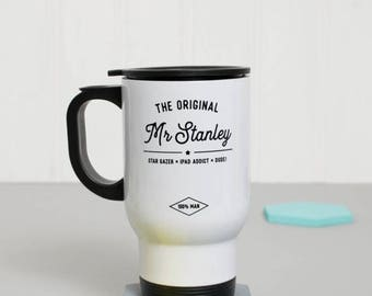 Travel Mug - The Original Mr.. - Personalised -  Custom Gift - Gift For Him - Gift For Friend - Teacher Gift - Coffee Gift