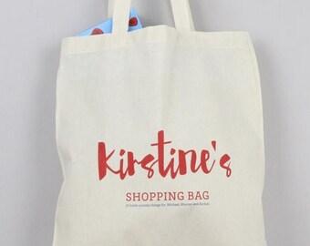 ON SALE shopping bag, personalised, grocery bag, kids bag, book bag, market bag