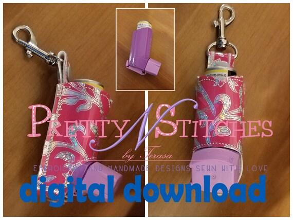Digital File Ith Embroidery Designs Inhaler Holder For