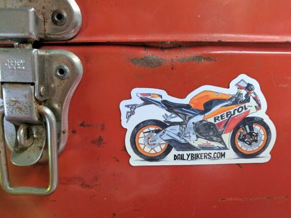 Motorcycle Fridge Magnet | High Quality Vinyl Motorcycle Magnet | Honda CBR1000 Fireblade llustration