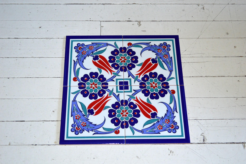 Turkish iznik tile wall decor 40cmx40cm for Decoration list mhw