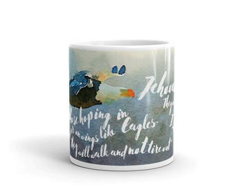 Mug | JW gift Isaiah 40:31 | Eagle Encouragement | Special Assembly Day | Pioneer Gift | Bible Study Gift | JW ORG | Brothers