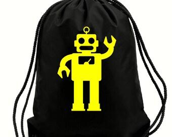 Clive robot bag,gym bag,school bag,water resistant drawstring bag,swimming wet bag