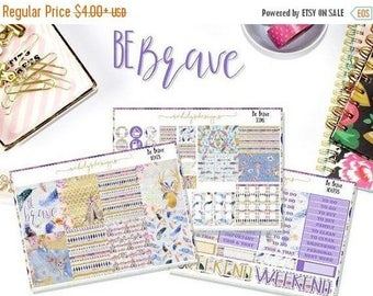 50% OFF BE Brave Week Set // Erin Condren // The Happy Planner // Sticker Kit  // Tribal Stickers // Stickers Week Set
