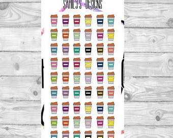 54COFFEE CUP Stickers // Planner Stickers