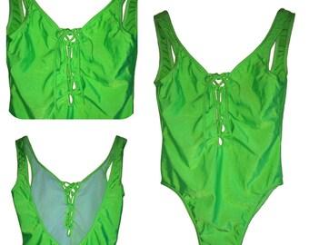"""Swimsuit - """"Neon Green"""" - T40/T44"""